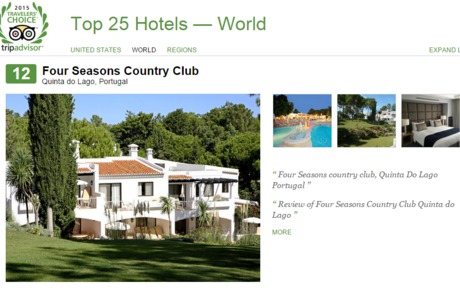 Portuguese hotel occupies the 12th position in the TOP 25 Best Hotels on TripAdvisor